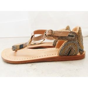 Diba • Beaded Leather Sandals